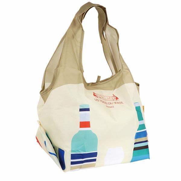 【PD001】2WAY ショッピングバッグ(カプリ ブラン ターコイズ/CAPRI Blanc Turquoise )