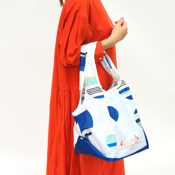 【PD001】2WAY ショッピングバッグ(ジニア ルージュ ブラン/ZINNIA Rouge Blanc)