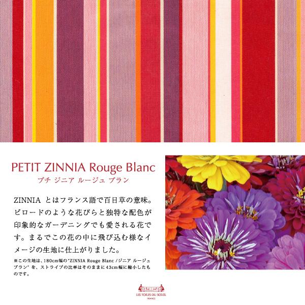 【A135】今治 ミニタオル(プチ ジニア ルージュ ブラン/PETIT ZINNIA Rouge Blanc)