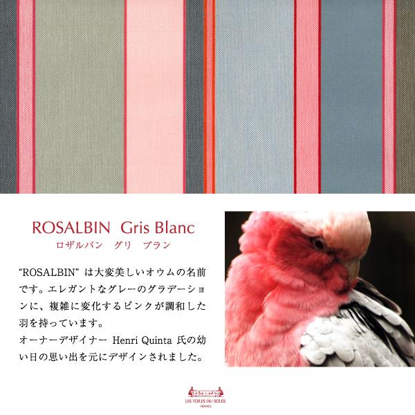 【A194】ソレイユポーチワイド(ロザルバン グリ ブラン/ROSALBIN Gris Blanc)