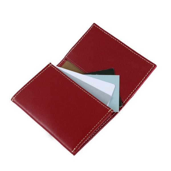 【A200】ポルトカルト/カードケース・名刺入れ(コンフィチュール ドゥ フリュイ ルージュ サーモン/CONFITURE DE FRUITS Rouge Saumon)