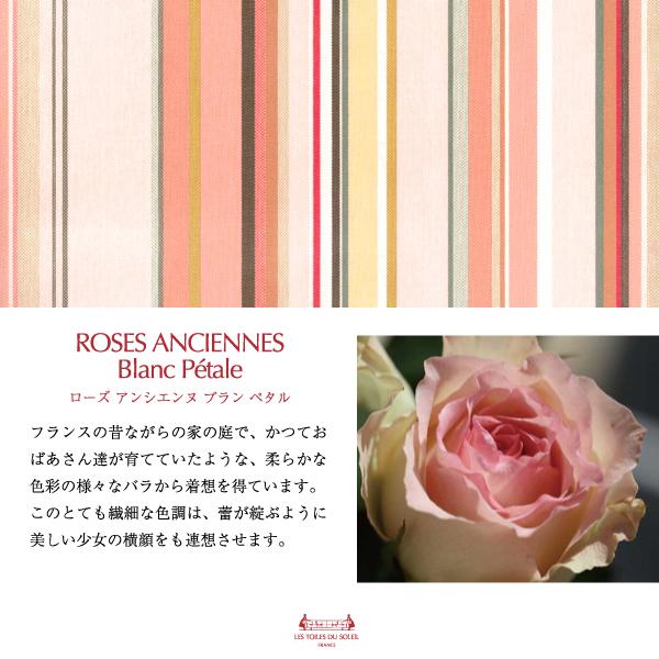 【TK005】三層立体マスク(ローズ アンシエンヌ ブラン ペタル/ROSES ANCIENNES Blanc Petale)