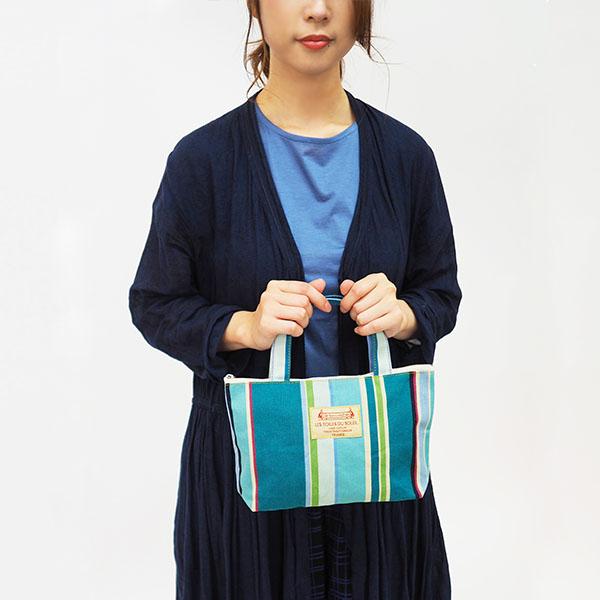 【U108】ZIP付きミニトート(ロワゾー ブルー/L'OISEAU BLEU)