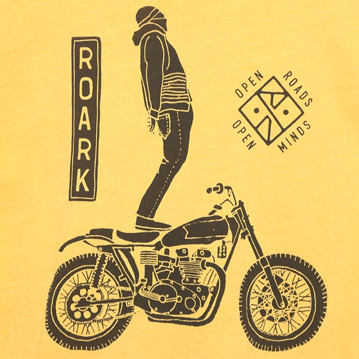 [クリックポスト対応] THE ROARK REVIVAL ロアークリバイバル GHOST RIDER GARMENT WASH PREMIUM S/S TEE 半袖Tシャツ RT674