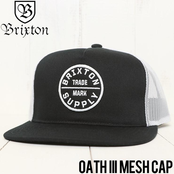 【送料無料】 BRIXTON ブリクストン BRIXTON OATH III MESH CAP メッシュキャップ 00958 BLACK