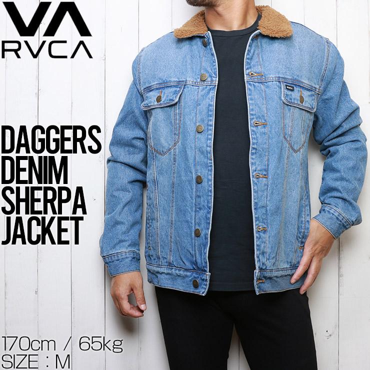【送料無料】 RVCA ルーカ DAGGERS DENIM SHERPA JACKET デニムジャケット ボアジャケット M7303RDA