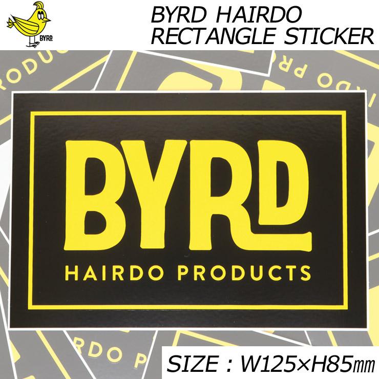 [クリックポスト対応] BYRD バード BYRD HAIRDO RECTANGLE STICKER ステッカー 2097009