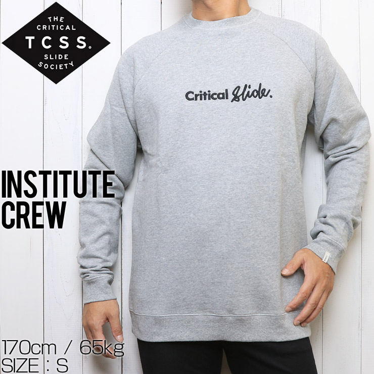 TCSS ティーシーエスエス INSTITUTE CREW  スウェットトレーナー FC1854 GREY MARLE