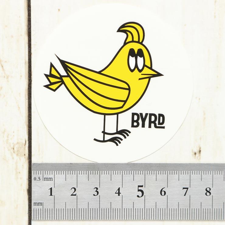 [クリックポスト対応] BYRD バード BYRD MR. BYRD STICKER CIRCLE SMALL ステッカー 2097010