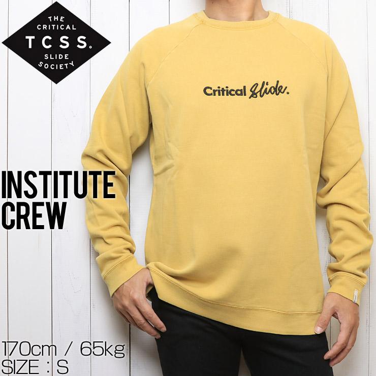 TCSS ティーシーエスエス INSTITUTE CREW  スウェットトレーナー FC1854 OCHRE