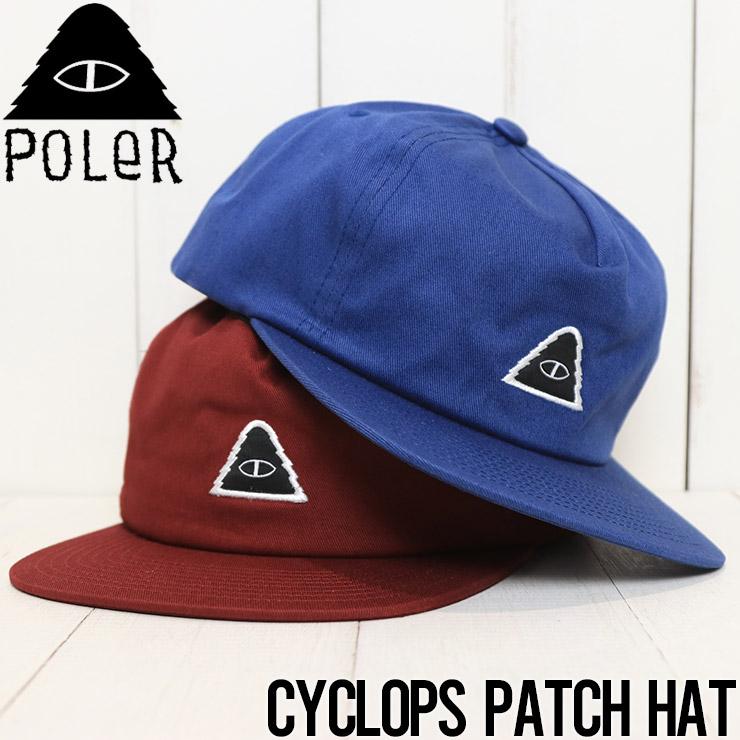 【送料無料】 POLeR ポーラー CYCLOPS PATCH HAT スナップバックキャップ 211ACM7008 [FB]