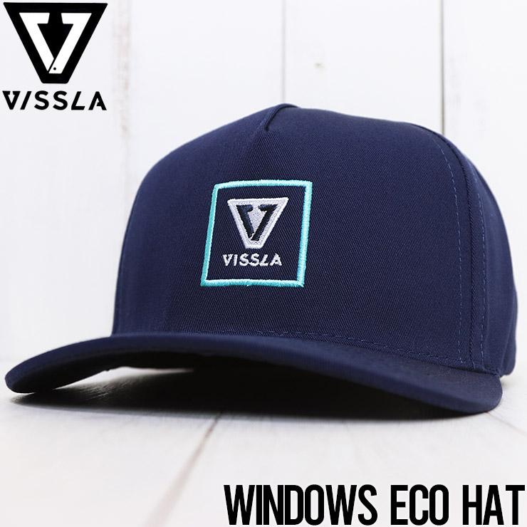 【送料無料】 VISSLA ヴィスラ WINDOWS ECO HAT ストラップキャップ MAHTQWIN [FB]
