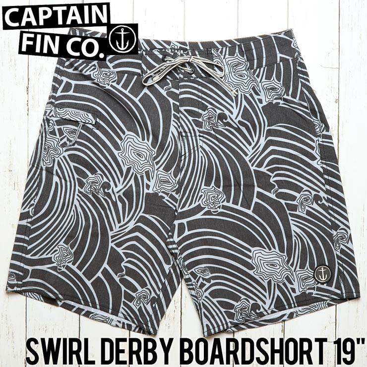 """[クリックポスト対応] CAPTAIN FIN キャプテンフィン SWIRL DERBY BOARDSHORT 19"""" ボードショーツ サーフパンツ CR181004"""