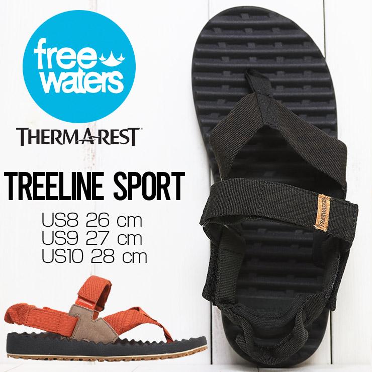 【送料無料】 freewaters フリーウォータース TREELINE SPORT (MEN'S) サンダル アウトドアサンダル ビーチサンダル FW21SM069