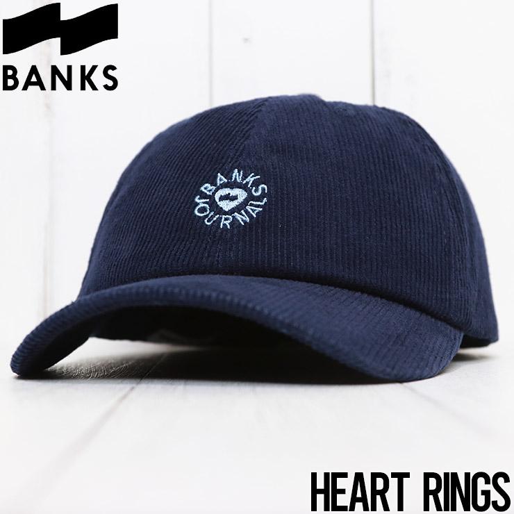 【送料無料】 BANKS バンクス HEART RINGS HAT コーデュロイストラップバックキャップ HA0126