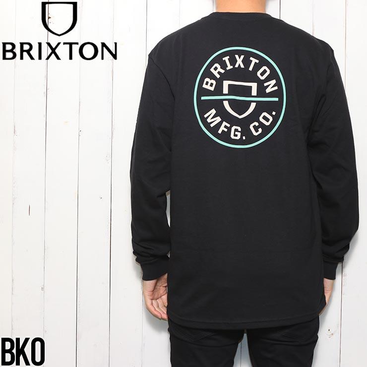 [クリックポスト対応] BRIXTON ブリクストン CREST L/S TEE ロングスリーブTシャツ ロンT 16251