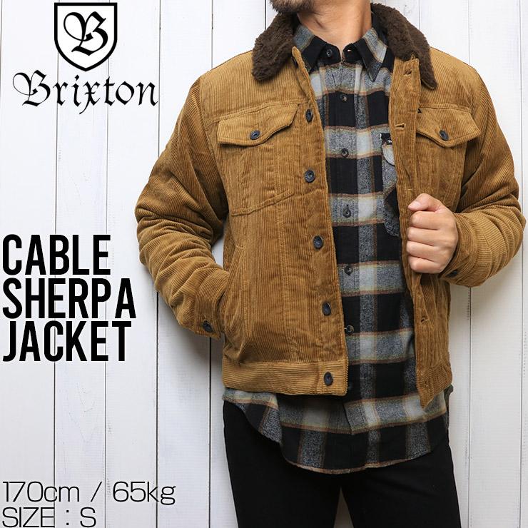 【送料無料】 BRIXTON ブリクストン CABLE SHERPA JACKET コーデュロイジャケット 03226 BRASS
