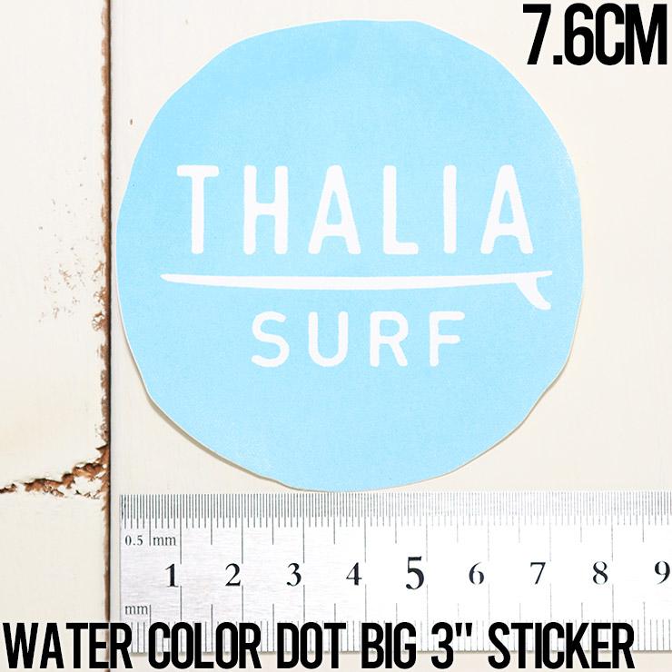 """【送料無料】 THALIA SURF タリアサーフ WATER COLOR DOT BIG 3"""" STICKER ステッカー シール"""