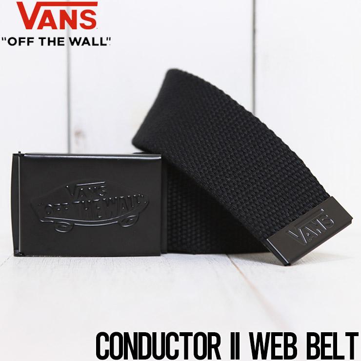 [クリックポスト対応] VANS ヴァンズ CONDUCTOR II WEB BELT ガチャベルト VN0A31J2