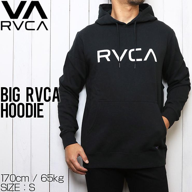 RVCA ルーカ BIG RVCA HOODIE プルオーバーパーカー フーディ M602WRBR BLK