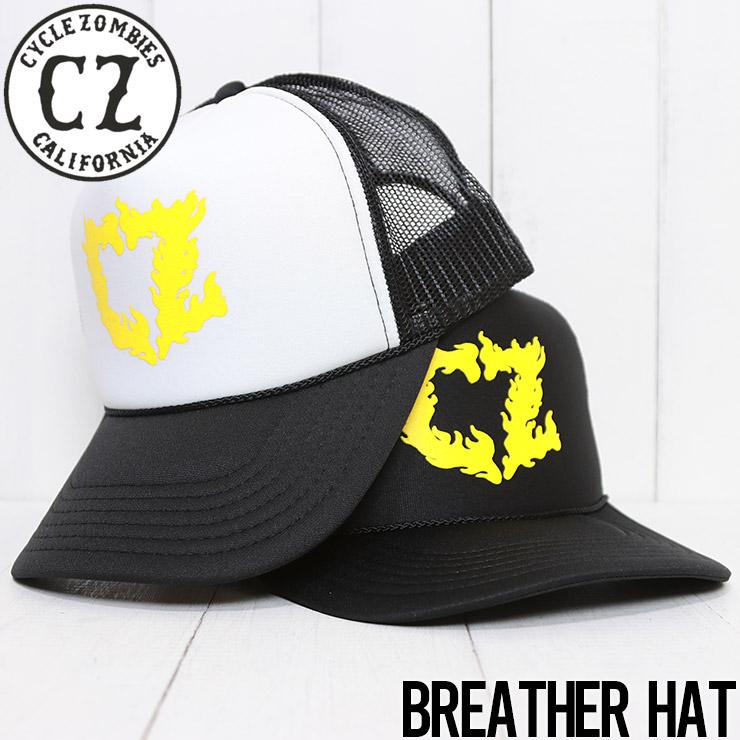 【送料無料】 Cycle Zombies サイクルゾンビーズ BREATHER TRUCKER HAT メッシュキャップ CZ-THF-026