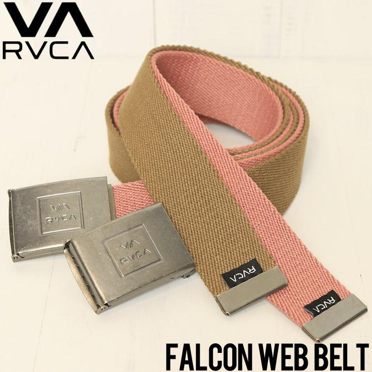 [クリックポスト対応] RVCA ルーカ FALCON WEB BELT ガチャベルト MABLQRFW