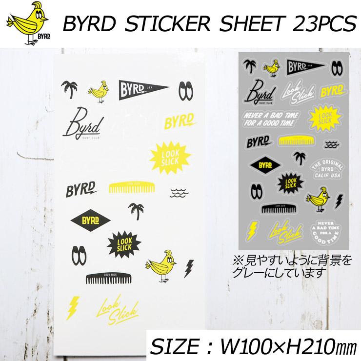 [クリックポスト対応] BYRD バード BYRD STICKER SHEET 23PCS ステッカーセット 2067788