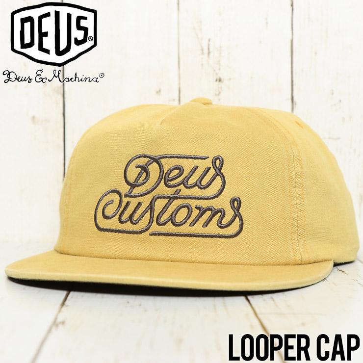 【送料無料】 Deus Ex Machina デウスエクスマキナ LOOPER CAP スナップバックキャップ DMF87360