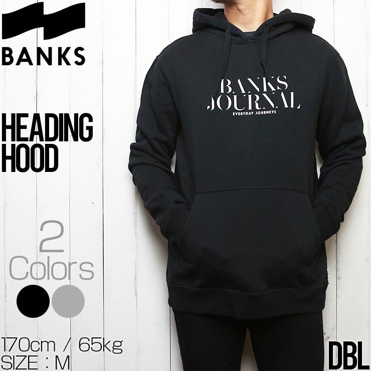 BANKS バンクス HEADING HOOD GRAPHIC FLEECE プルオーバーパーカー フーディ WFL0287