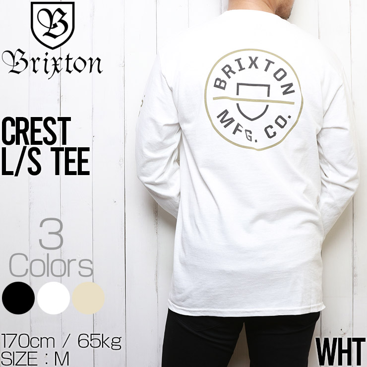 [クリックポスト対応] BRIXTON ブリクストン CREST L/S TEE ロングスリーブTEE ロンT 16251
