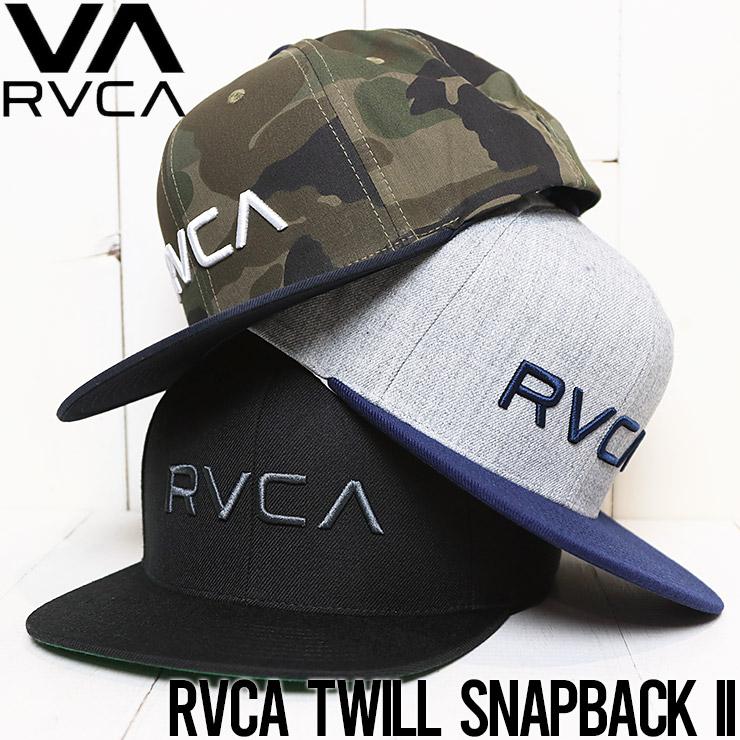 【送料無料】 RVCA ルーカ RVCA TWILL SNAPBACK II スナップバックキャップ MAAHWRSB