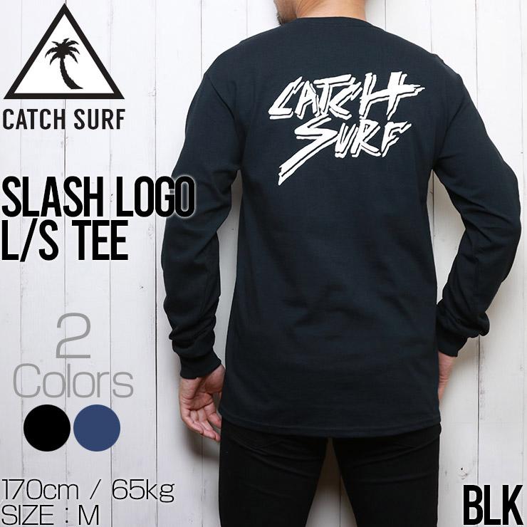 [クリックポスト対応] CATCH SURF キャッチサーフ SLASH LOGO L/S TEE ロンT ロングスリーブTEE A20TEE051