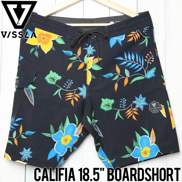 """[クリックポスト対応] VISSLA ヴィスラ CALIFIA 18.5"""" BOARDSHORT ボードショーツ M105LCAL"""
