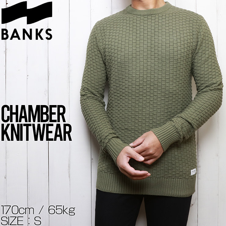 BANKS バンクス CHAMBER KNITWEAR コットンセーター ニット WKN0078