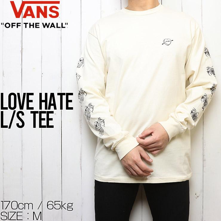 [クリックポスト対応] VANS ヴァンズ バンズ LOVE HATE L/S TEE ロングスリーブTEE ロンT VN0A54DBZ6K