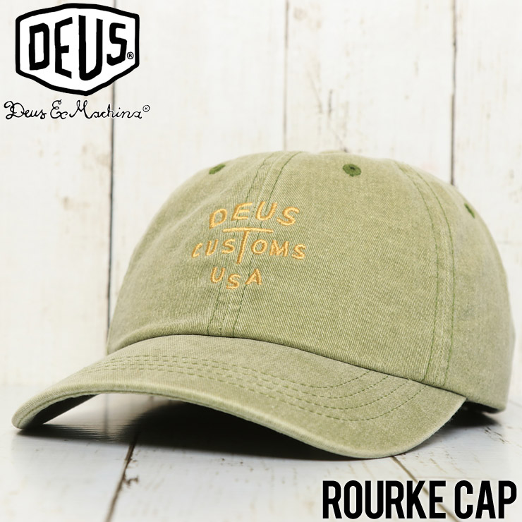 Deus Ex Machina デウスエクスマキナ ROURKE CAP ストラップバックキャップ DMF37858