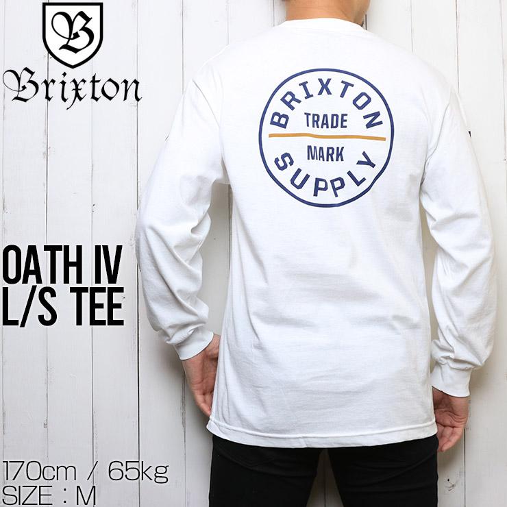 [クリックポスト対応] BRIXTON ブリクストン OATH IV L/S TEE ロングスリーブTシャツ 16001 WHBLU