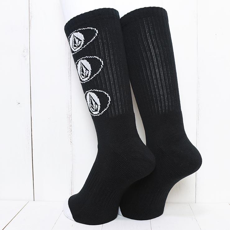 [クリックポスト対応] VOLCOM ボルコム VIBES SOCKS ソックス 靴下 D6302003 BLK