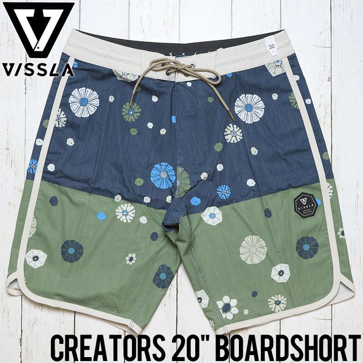 """[クリックポスト対応] VISSLA ヴィスラ CREATORS 20"""" BOARDSHORT ボードショーツ M118GCRE"""