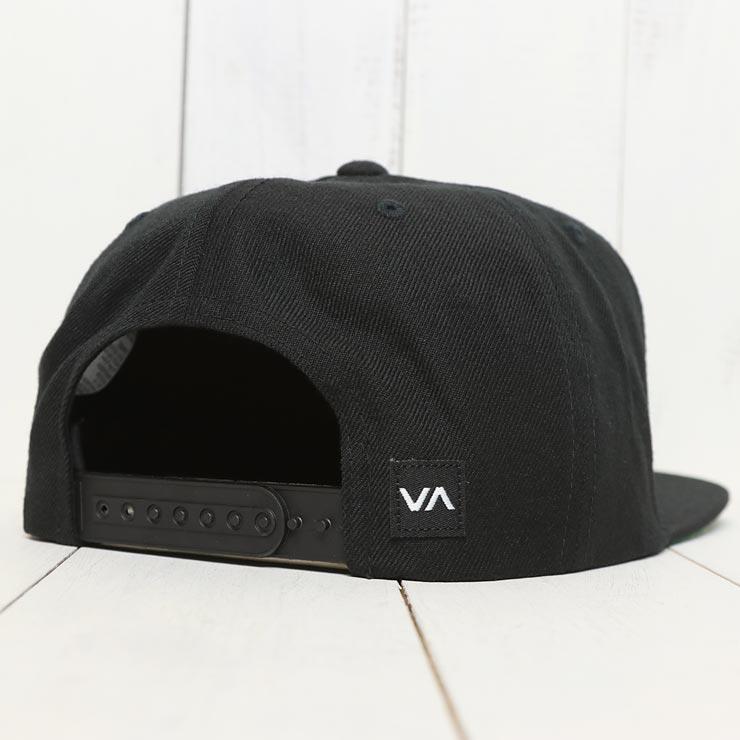 【送料無料】 RVCA ルーカ COMMONWEALTH SNAPBACK HAT スナップバックキャップ MDAHWCWS BLACK