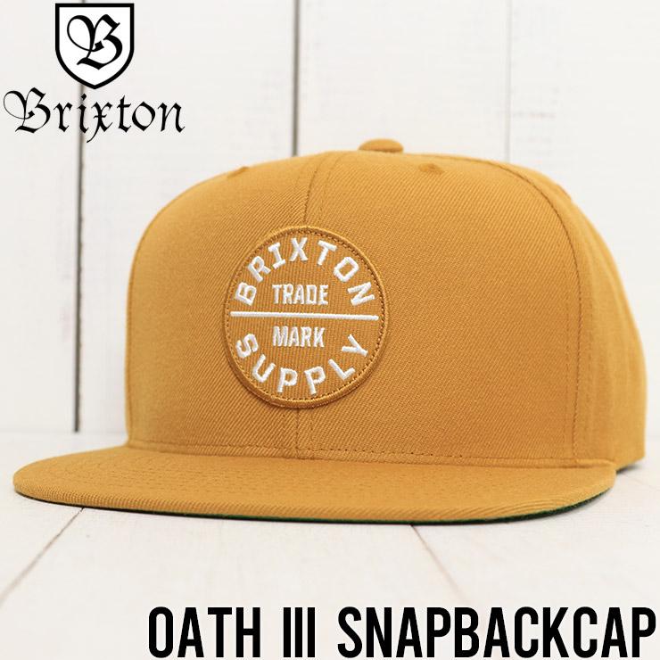 【送料無料】 BRIXTON ブリクストン OATH III SNAPBACKCAP スナップバックキャップ 00173 CPWHT