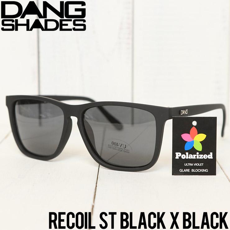 【送料無料】 DANG SHADES ダンシェイディーズ RECOIL POLARIZED SUNGLASSES 偏光サングラス ST BLACK X BLACK [FB]