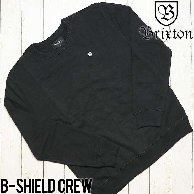 BRIXTON ブリクストン B-SHIELD CREW スウェットトレーナー 02487 BLACK