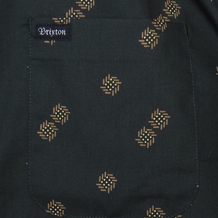 [クリックポスト対応] BRIXTON ブリクストン CHARTER PRINT S/S WOVEN SHIRTS 半袖シャツ 01134 WSBKC
