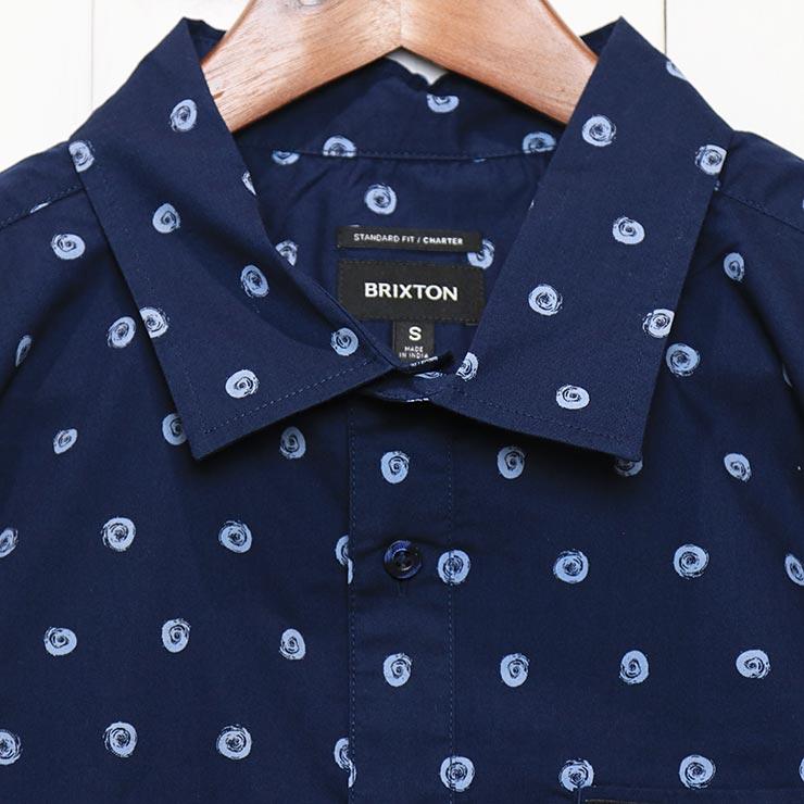 [クリックポスト対応] BRIXTON ブリクストン CHARTER PRINT S/S WOVEN SHIRTS 半袖シャツ 01218 NVBFG