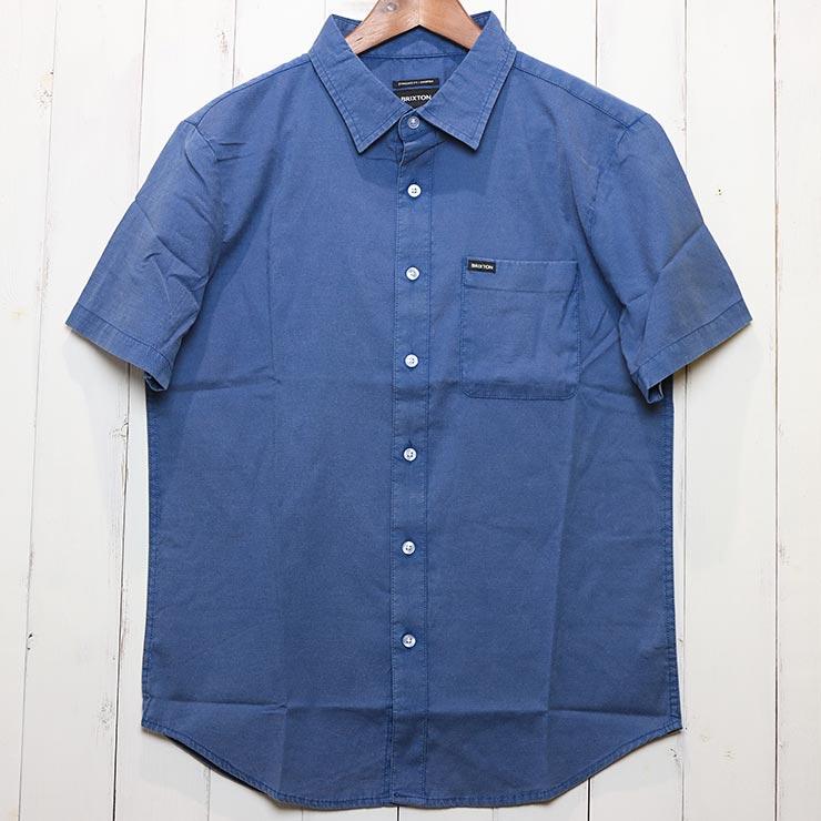 [クリックポスト対応] BRIXTON ブリクストン CHARTER OXFORD SHIRTS 半袖シャツ 01217