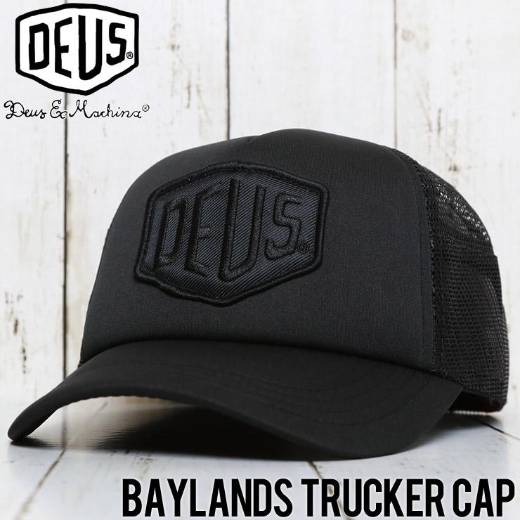 【送料無料】 Deus Ex Machina デウスエクスマキナ BAYLANDS TRUCKER CAP メッシュキャップ DMS07875 BLACK