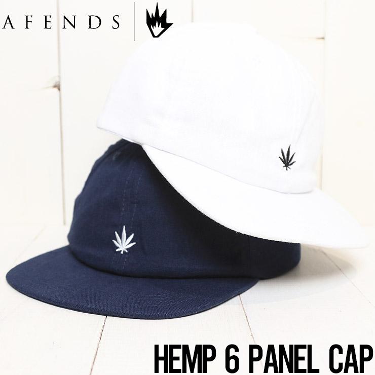 【送料無料】 AFENDS アフェンズ HEMP 6 PANEL CAP ストラップバックキャップ A212600