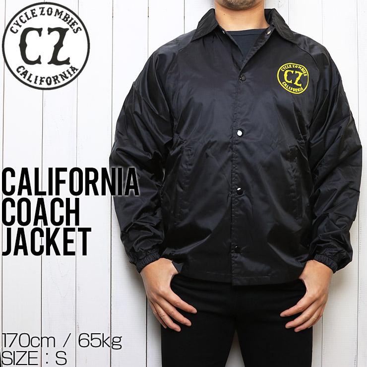 [クリックポスト対応] Cycle Zombies サイクルゾンビーズ CALIFORNIA COACHES JACKET コーチジャケット CZ-CJKT-014