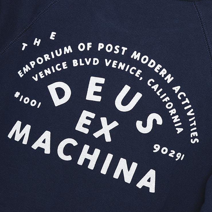 Deus Ex Machina デウスエクスマキナ VENICE ADDRESS CREW スウェットトレーナー クルーネック DMW98028A